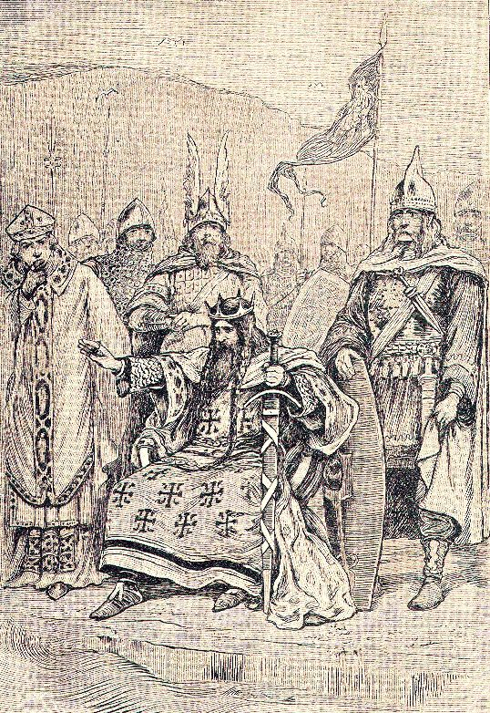 King Canute Defies the Waves - Look and Learn History