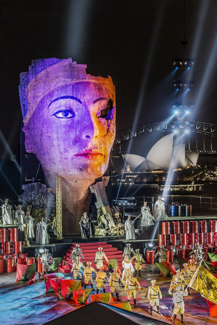 Aida Opera Sydney Finished Product - Staging Rentals & Construction Services 2015