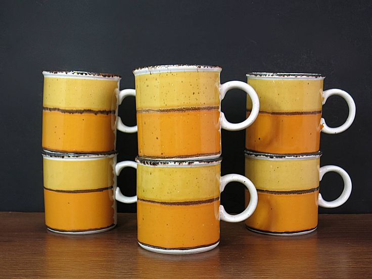 Midwinter Stonehenge Sun Mugs - Midwinter Sun Coffee Mugs - Eve Midwinter Design - Yellow Midwinter England Coffee Mugs - 6 Mugs Available by EightMileVintage on Etsy