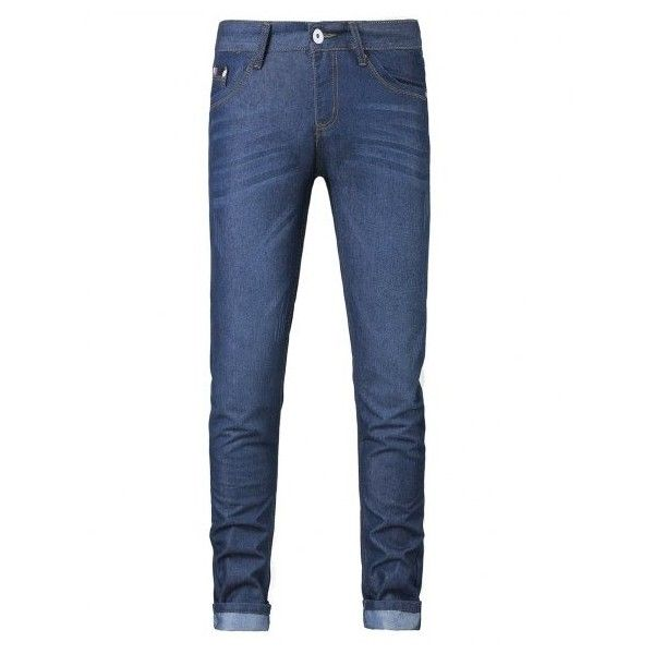 Plus Size Zipper Fly Spliced Design Slimming Narrow Feet Jeans ($26) ❤ liked on Polyvore featuring jeans, women's plus size jeans, slim fit jeans, blue jeans, slim fit blue jeans and zipper jeans