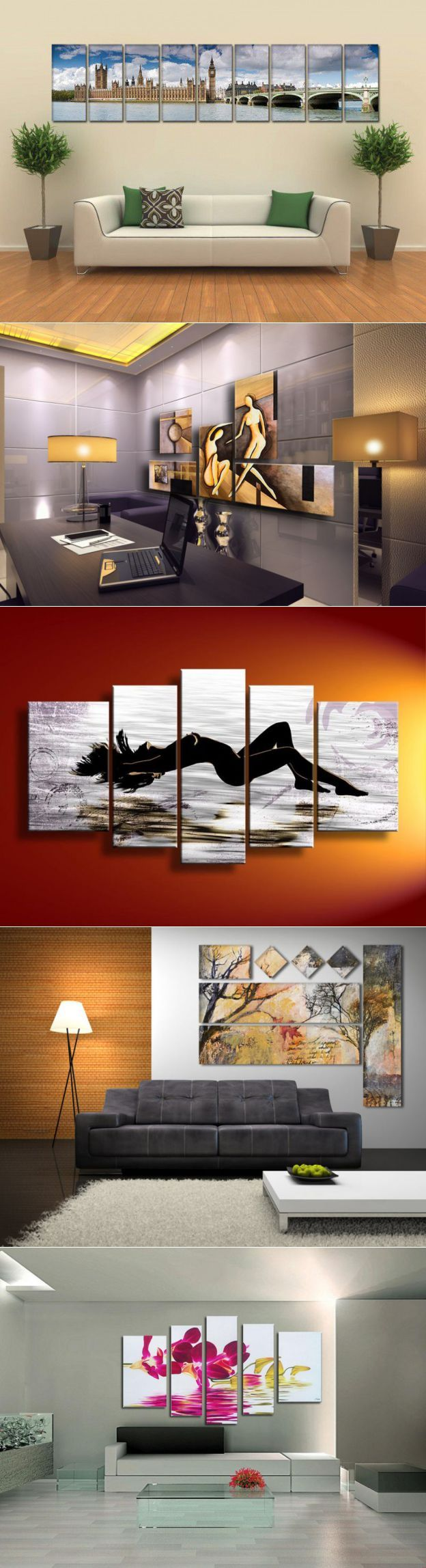Картины для интерьера - модульные, своими руками, в гостиной, абстракц� | Дом_Уют_Цветы_Ремонт_Декор | Постила