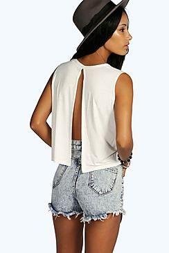 Camiseta Corta De Tirantes Con Espalda Descubierta Natasha