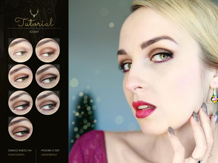 Christmas Look #tutorial #makeup #blogicony