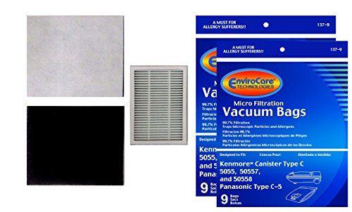 18 #Kenmore Canister Type C Sears Vacuum Bags, Canister, Panasonic Vacuum Cleaners, MC-V150M,20-50558, MC-V9600 thru V9699, 20390, 20400, 20410, 20430, 20450, 21...