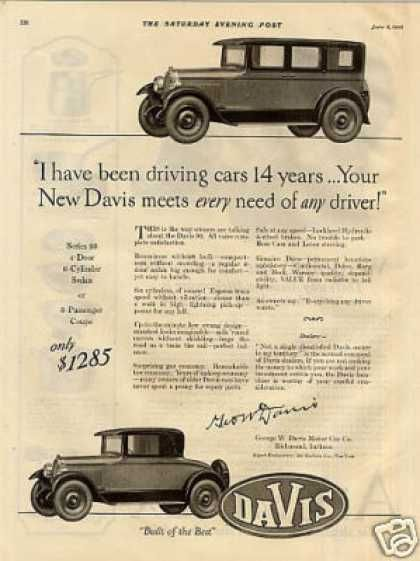 17 Best Images About Davis Motor Car Co Ads On Pinterest