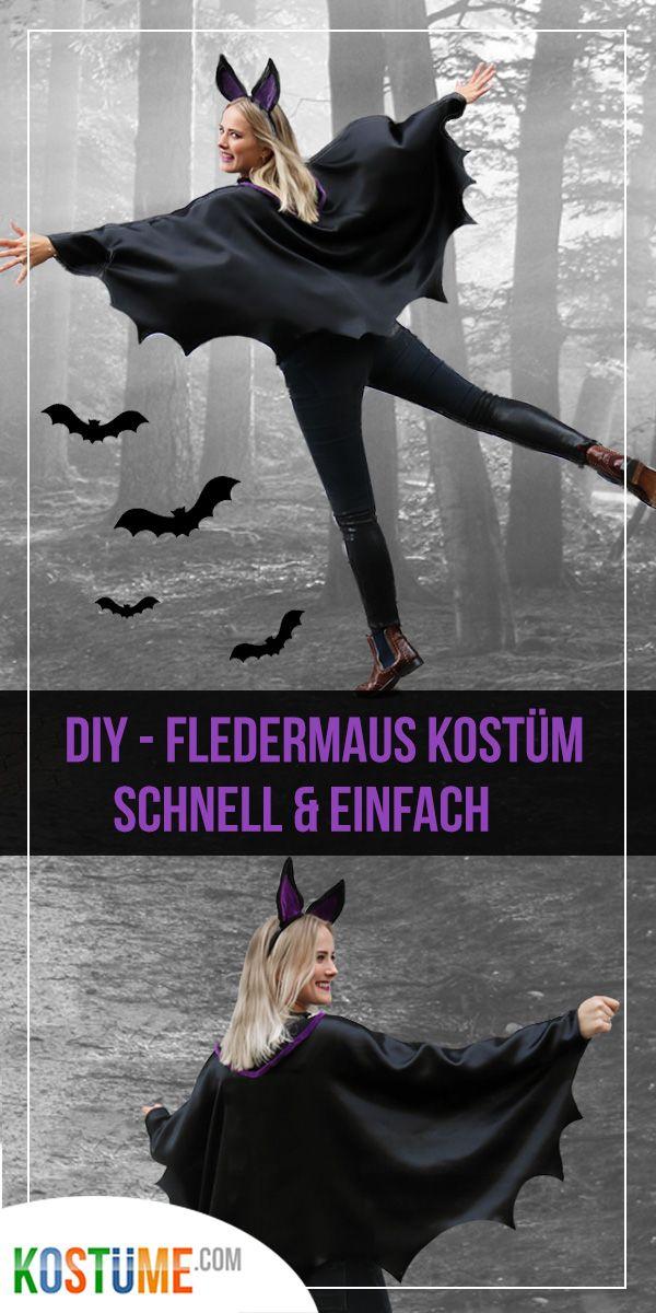 Halloween-Fans aufgepasst: Fledermauskostüm selber machen   – DIY // Fledermaus Kostüm