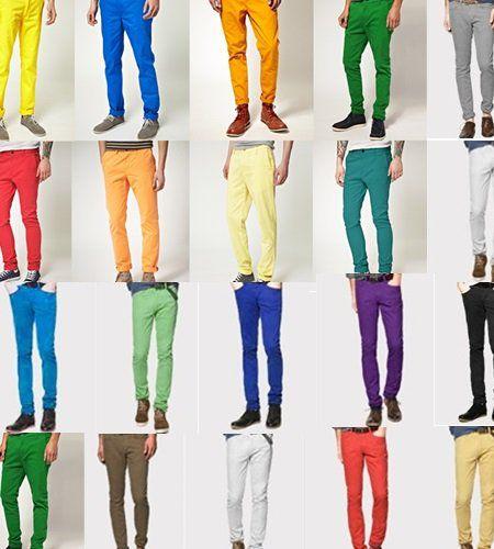 pantalones de colores hombres - Buscar con Google