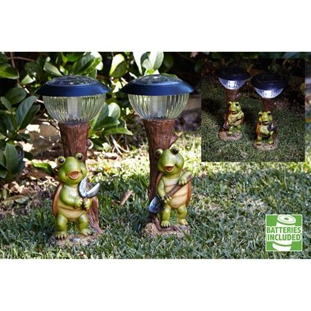 Turtle with Solar Light Set of 2