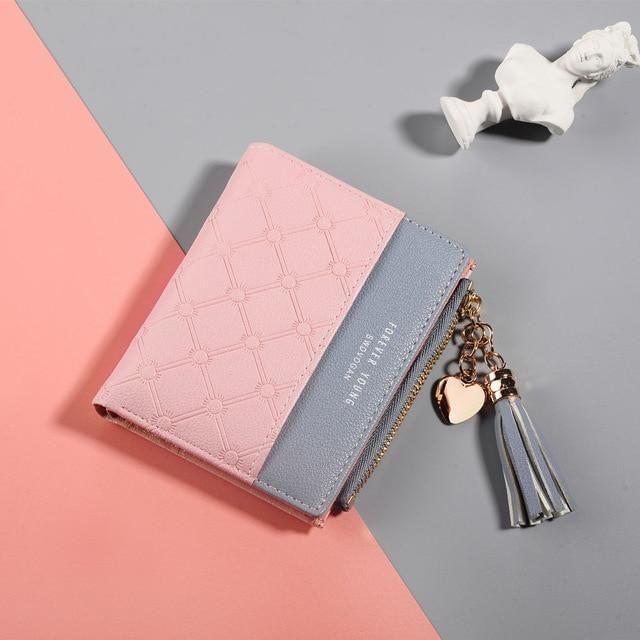 2018 New Women/'s Cute Fashion Purse Leather Long Zip Wallet Coin Card Holder