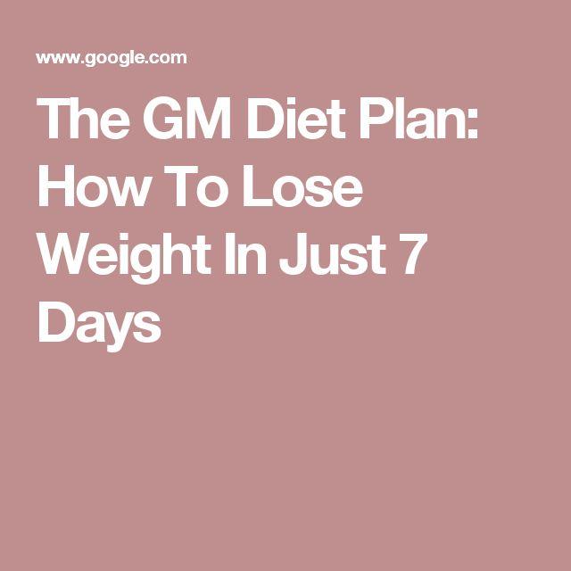 gm diet day 7 pdf