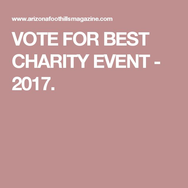 VOTE FOR BEST CHARITY EVENT - 2017.