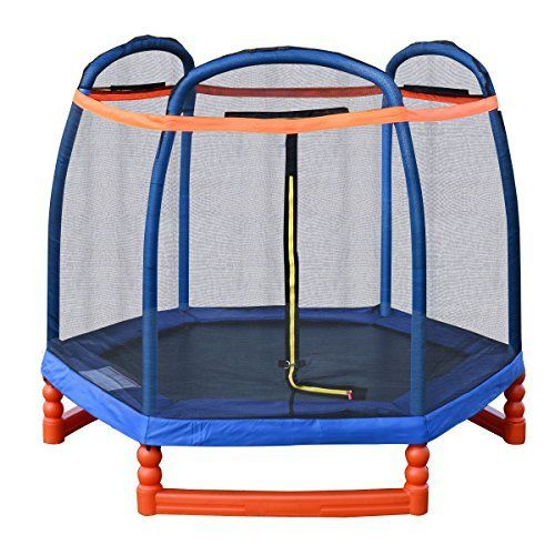 Giantex 7FT Trampoline Combo w/ Safety Enclosure Net Indoor Outdoor Bouncer Jump Kids – EXERCISE WITH JOY