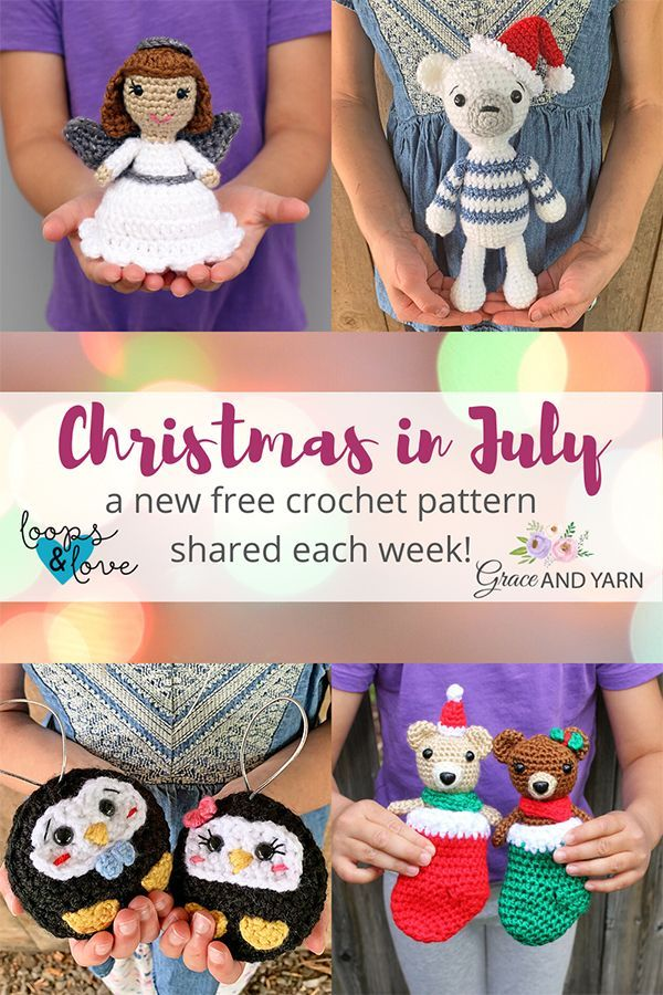 Crochet Pattern Christmas 2020 Christmas In July 2020   Free Crochet Patterns in 2020 | Crochet