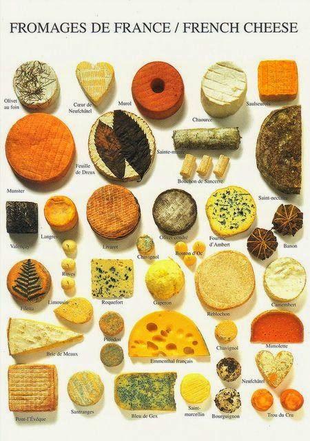 Vinho, Cerveja e Gastronomia: Queijos da França