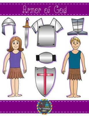 Armor of God Clipart in Color and Black & White from The-Schoolhouse on…