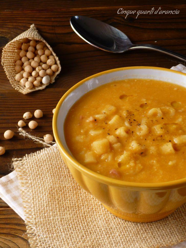 minestra ceci e pancetta