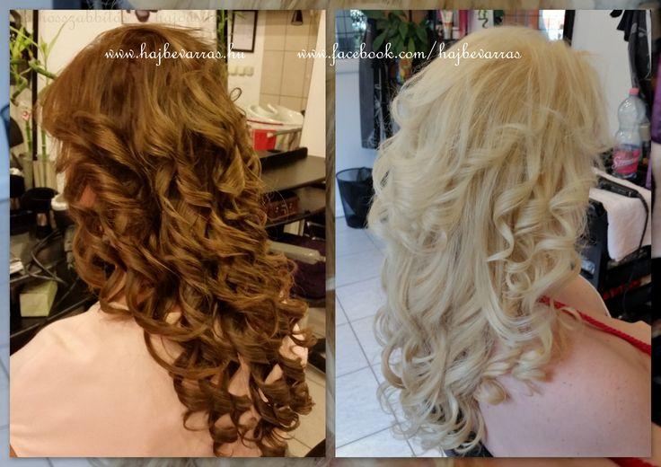Mikrogyűrűs hajhosszabbítás 40 cm-es európai hajból, újra építve. www.hajbevarras.hu www.fb.com/hajbevaras #hajhosszabbitas #hajdusitas #mikrogyuru