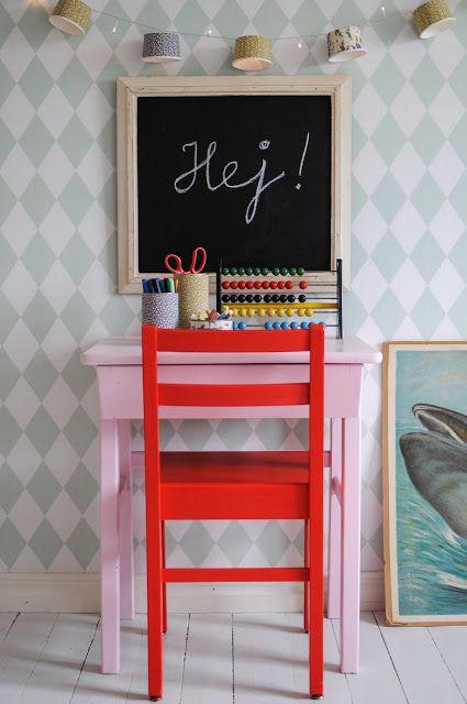 Johanna i Kulla: DIY - Lättfixad skolhörna till barnrummet