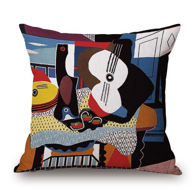 Światowej Sławy Obrazy Picasso Jednej Stronie Druk Home Decor Sofa Fotelik Samochodowy Poduszki Dekoracyjne Poszewka Na Poduszkę Capa Almofada
