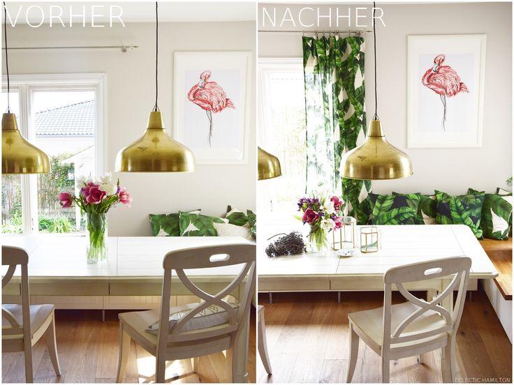 Dschungelfieber: von der Tischdecke zum Vorhang - ganz ohne Nähen! #diy #vorhang