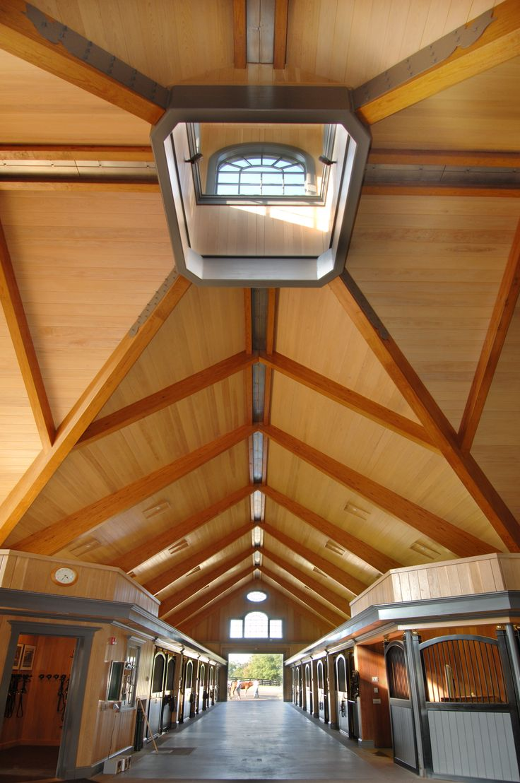 Stunning horse stable built with Unalam glulam beams, decking and in house fabricated steel.