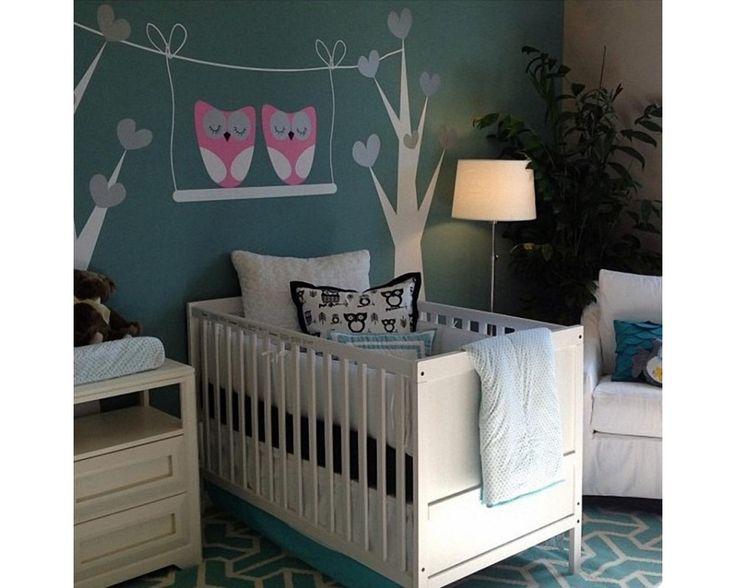 Owls swing, αυτοκόλλητο τοίχου , διακόσμηση σπιτιου