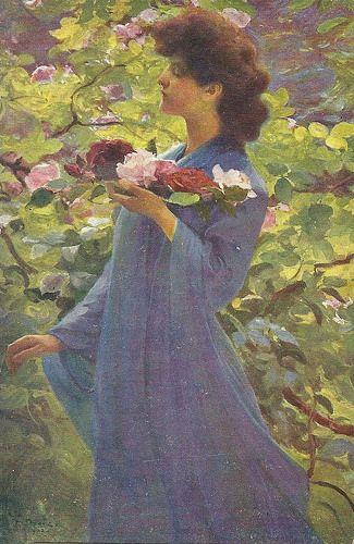 "Franz Dvorak (Austrian, 1862-1927), ""The Rose Maiden"" Sofi"