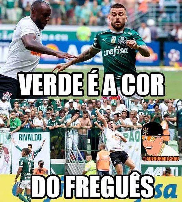 Verde E A Cor Do Que Corinthians Vai Palmeiras Piada Futebol Corinthians Futebol Mundial
