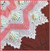 Dogwood Blossom 8 to 16 Point Round Ripple ~ free pattern