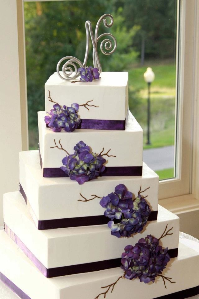 Pretty Purple Hydrangea Cake Photo By Wendi Curtis Photography