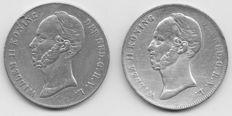 Nederland - 2½ gulden 1847 en 1848 Willem II - zilver