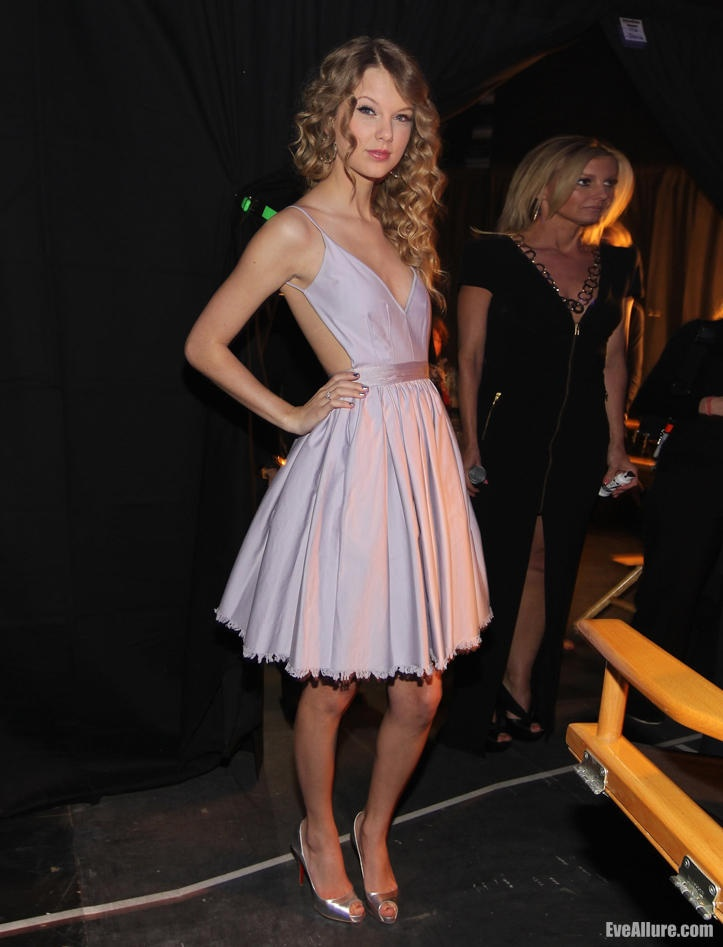 Taylor Swift open back dress