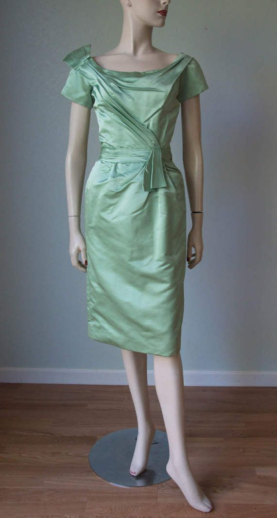 1950s Ceil Chapman Sculptural Pleated by KittyGirlVintage on Etsy