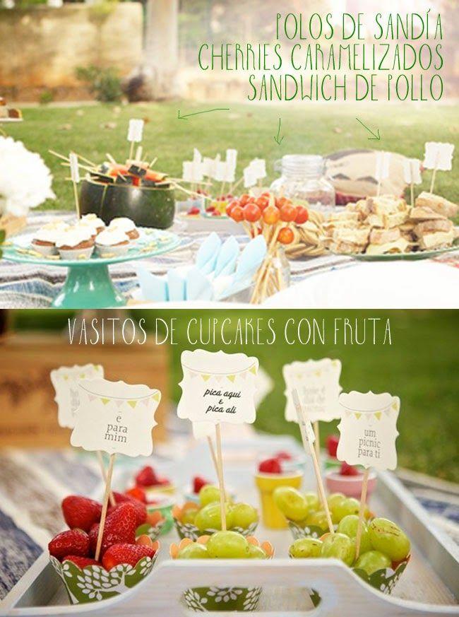 17 mejores ideas sobre comidas de fiesta al aire libre en - Comida para llevar de picnic ...