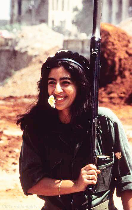 Female Lebanese fighter, 1982