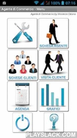 """Agente Di Commercio Free  Android App - playslack.com ,  L'applicazione """"Agente di Commercio Free"""" è un valido supporto per le agenzie di vendita ed i rappresentanti in generale, per la gestione dell'anagrafica dei propri clienti, gestire i vari listini e le varie aziende associate a ciascun cliente. Consente di memorizzare tutte le visite presso i propri clienti e di pianificare le visite da fare.Il rappresentante può acquisire gli ordini dei clienti e eventualmente allegare delle foto…"""