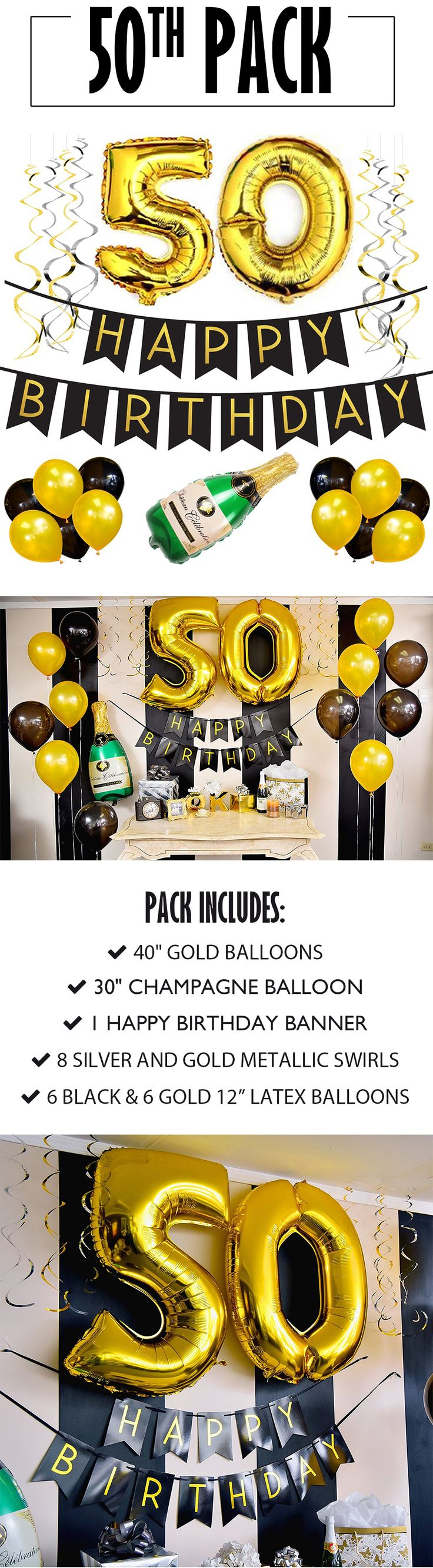 50th Birthday Banner and Balloon Pack!