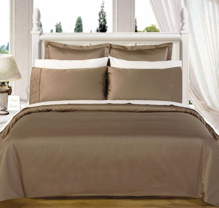Taupe 550tc Olympic Queen Solid Bed In A Bag 90x92