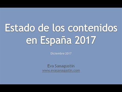 Vídeo con algunos datos del 6º informe Estado de los contenidos en España 2017.