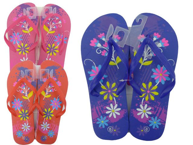 Wholesale Flip Flops Bulk Lot Of 72 Pairs In Assorted Colors Style 44010B0