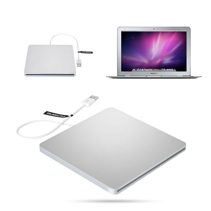 Patuoxun USB External Slot CD RW Drive Burner Superdrive for Apple MacBook Pro Air iMAC/ Laptop PC