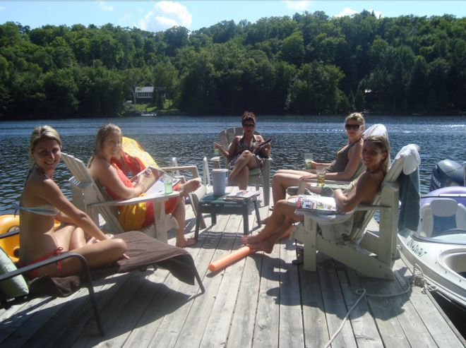 Chatelaine:  Over the long weekend I hosted one of my closest friend's bachelorette party at my cottage in the Lake of Bays community in Muskoka. The clear blue skies and cool lakefront breeze was the perfect summer weather.