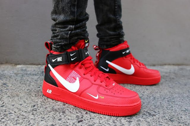 newest dcea3 1bbf1 First Look Nike Air Force 1 Mid 07 LV8 Utility – Red
