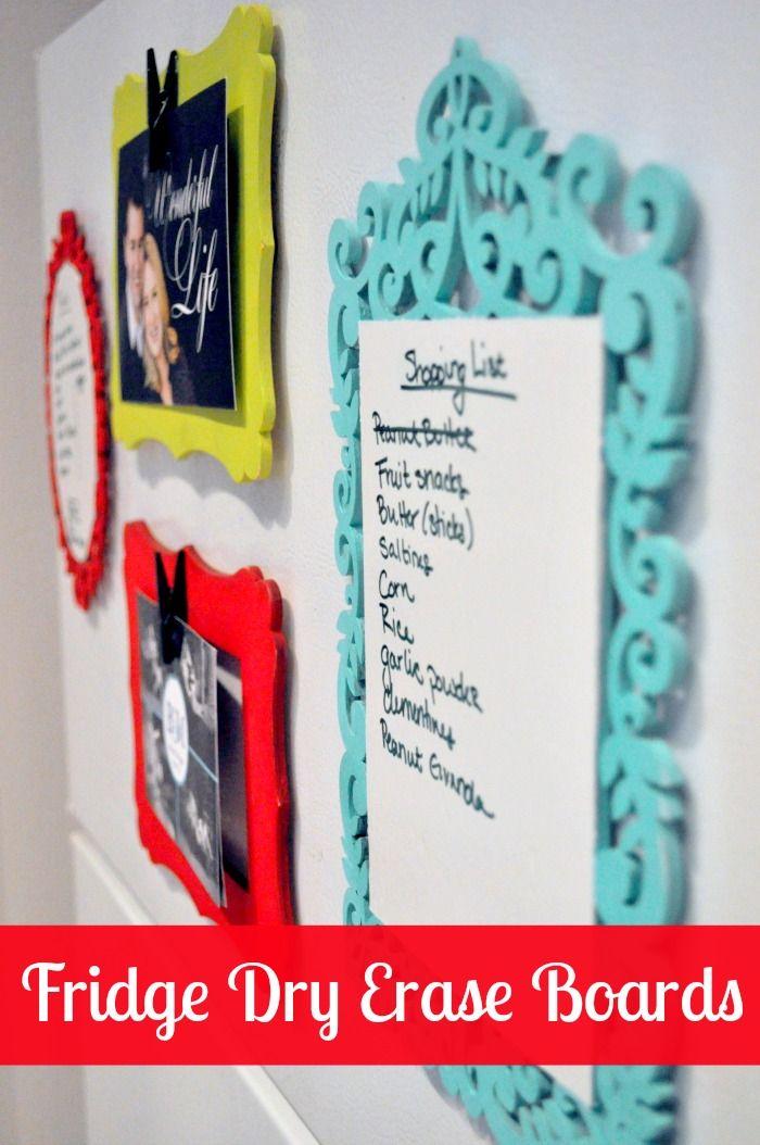 DIY Fridge Dry Erase Boards - Makes the kitchen more organized and prettier! {The Love Nerds} #kitchenorganization #homedecor #diy