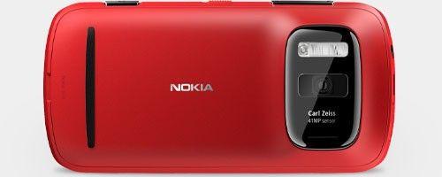 Nokia 808 PureView smartphone with a 41MP camera sensor.