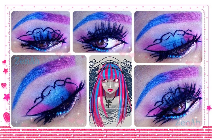 ZenAh - Monster high doll 'Rochelle Goyle' inspired look for today~  Did this look for a Monster High collab Ambra Photography & Makeup is hosting