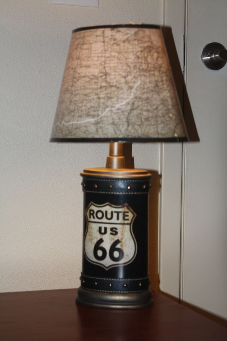This lamp was bought at Hobby Lobby as well.  We loved it and thought it was perfect for a travel themed room.  Again, this will grow very well with our little boy.