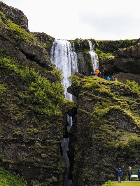 Gljúfrabúi Waterfall along Iceland's South Coast