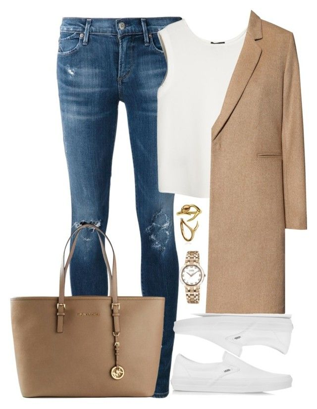 Unbenannt #1489 by luckylynn-cdii on Polyvore featuring MANGO, H&M, Citizens of Humanity, Vans, Michael Kors, Citizen and Shaun Leane