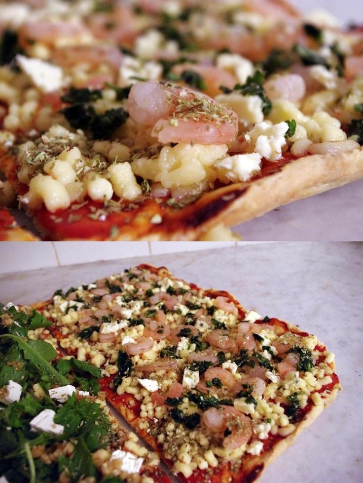 >>camarones / queso azul / oliva al cilantro y especias<